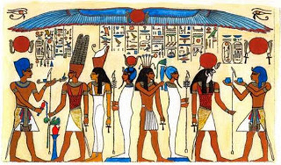 Ancient egypt gods and communication home for Ancient egyptian mural paintings